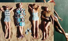 Nesse calor a gente queria estar como? Aproveitando uma praia com #ElleFanning #LaraStone e companhia lindas e plenas na última campanha da @miumiu!#LOFFama #miumiu  via L'OFFICIEL BRASIL MAGAZINE INSTAGRAM - Fashion Campaigns  Haute Couture  Advertising  Editorial Photography  Magazine Cover Designs  Supermodels  Runway Models