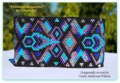 Your place to buy and sell all things handmade Beading Patterns Free, Bead Loom Patterns, Peyote Patterns, Bracelet Patterns, Seed Bead Necklace, Seed Beads, Native Beadwork, Peyote Bracelet, Woven Bracelets