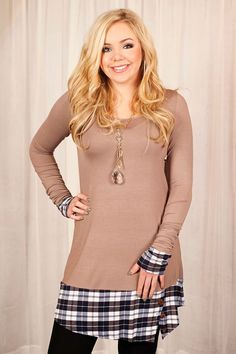 Glamour Farms - It's In The Details Tunic - $32 - Mocha