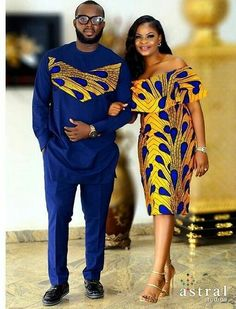 African Couple's outfit/ prom dress/ankara jacket/wedding gown/wedding suit/african men's clothing/d African Prom Dresses, Latest African Fashion Dresses, African Print Fashion, Africa Fashion, Ankara Fashion Styles, African Fashion For Men, African Fashion Traditional, 50s Dresses, African Wear