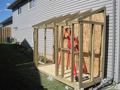 Bike Shed For Side Of House Need Lower Version New Deck Plans