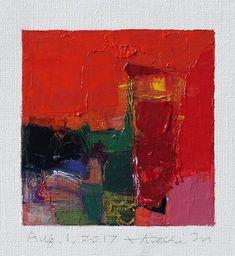 Il s'agit d'une peinture à l'huile abstraite par Hiroshi Matsumoto Titre : 1er août 2017 Taille : 9,0 cm x 9,0 cm (environ 4 x 4) Toile taille : 14,0 cm x 14,0 cm (env. 5,5 x 5,5) Technique : Huile sur toile Année : 2017 C'est ma peinture tous les jours appelé tableau de 9 x 9 et le titre est la date que j'ai créé cette peinture. Peinture est livré avec un tapis. Peinture est feutré en écru pour s'adapter à cadre standard 8 pouces x 10 pouces (non inclus) et livré avec le certificat d'aut...