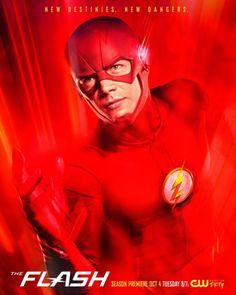 O canal CW divulgou o cartaz oficial da terceira temporada de The Flash, que estreia dia 4 de outubro nos EUA: