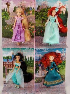 Disney Small Princess Mini Doll Set. This is a lovely set of four Disney Parks Princess dolls. | eBay!