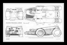 Cobb's original design for the armored transport