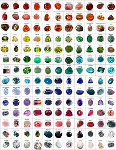 Gems GLORIOUS Gems Coming in every color of the rainbow and clear, traslucent or opaque- each with a vibe, a value and a victory! We