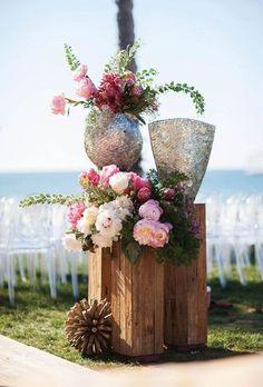 20 Inspirações de Decoração para casamento rústico com caixas de madeira