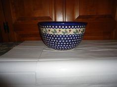 "Boleslawiec Polish Pottery Stoneware Large 10""  Serving/Salad/Mixing Bowl."