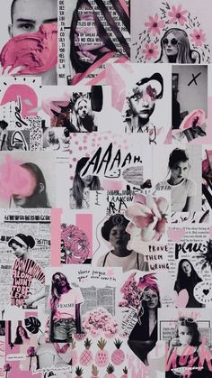 42 Ideas Fashion Collage Wallpaper Iphone For 2019 Tumblr Wallpaper, Pink Wallpaper, Screen Wallpaper, Wallpaper Backgrounds, Wallpaper Desktop, Wallpaper Ideas, Phone Backgrounds, Aesthetic Pastel Wallpaper, Aesthetic Backgrounds