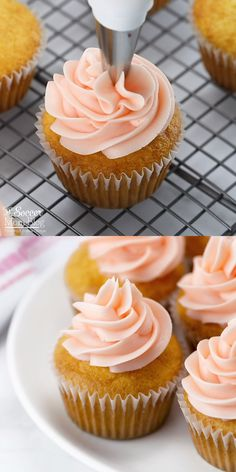 These gorgeous Pink Champagne Cupcakes are a delight to the senses! Made with real sparkling wine and homemade champagne buttercream frosting, they are a fun and festive dessert for any special occasion! Gourmet Cupcakes, Baking Cupcakes, Cupcake Cakes, Liquor Cupcakes, Alcohol Infused Cupcakes, Alcoholic Cupcakes, Cocktail Cupcakes, Banana Pudding Cheesecake, Pudding Cake