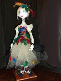 One of a kind cloth art doll