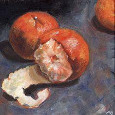 """Tangerines"" - oil on canvas board -   Anja Essler"