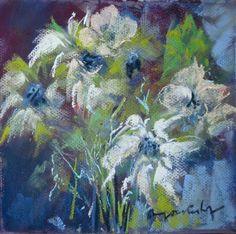 """"""" 99 days in my garden """" day 1 Dry pastel / paper board MF OOSTERHOF"""