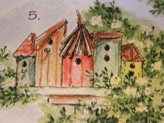 Birdhouses L K Photo Examples Art Impressions Rubber Stamps | eBay