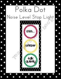 Polka Dot Noise Level Stoplight