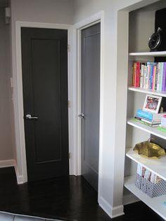 Dressing Up Plain Flat Doors Dark Interior