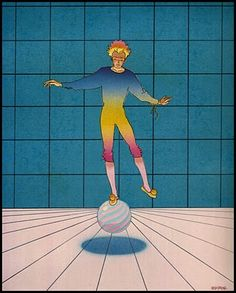 """an awesome Moebius print... Kind of a """"Le Petit Prince"""" feel to it"""