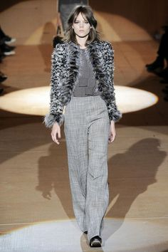 Freja Beha Erichsen channeling the classic androgyny of  Françoise Hardy. Love Marc's subtle nod to surrealism here! | Marc Jacobs FW 2010 | from my flickr.