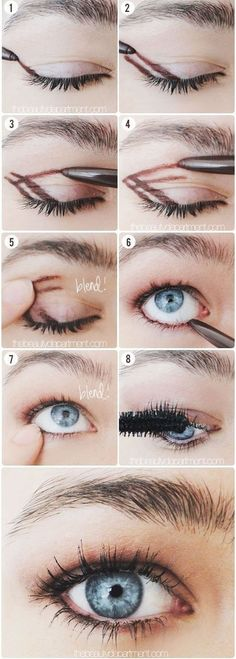 Simple beauty tips for perfect smokey eyes Makeup - makeup products - makeup tutorial - makeup tips Beauty Make-up, Beauty Secrets, Beauty Hacks, Beauty Ideas, Natural Beauty, Beauty Essentials, Natural Makeup, Beauty Care, Fashion Beauty