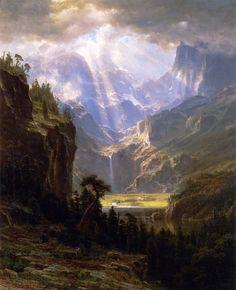 "Rocky Mountains 'Lander's Peak"", 1863 by Albert Bierstadt (1830-1902) : Art"