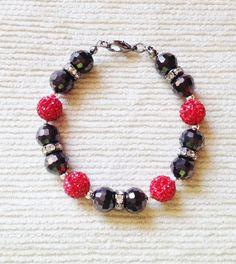 Sparkly red crystal pave bracelet by Hellenna on Etsy, £25.00