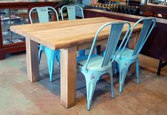 Chunky Wood Dining Table | Flickr - Photo Sharing!