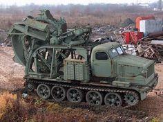 BTM trench digging vehicle