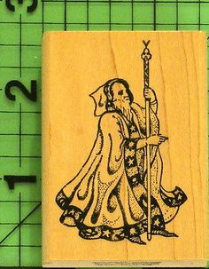Wizard Rubber Stamp by Rubber Stamps of America | eBay