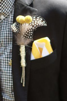 Super fun detail that is easy to make.  Colourful Columbus Wedding: Adam  Claire