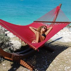 Who can resist this gorgeous Ruby Red Caribbean #Hammock?!  Love it!!