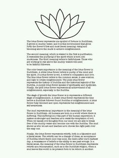 I am going to get a tattoo of a lotus. Love the meaning and it is spot on!