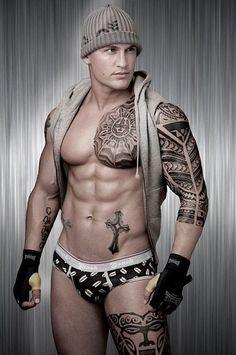 Tribal Tattoos For Guys Leg Arm