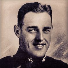 Medal of Honor recipient Major Kenneth Bailery. Awarded for defending Henderson Field on Guadalcanal. Despite a severe head wound, Major Bailey led his troops in hand-to-hand combat against the Japanese for 10 hours. His great personal valor while exposed to constant and merciless enemy fire, & his indomitable fighting spirit inspired his troops to heights of heroic endeavor which enabled them to hold Henderson Field. More here: en.wikipedia.org/...