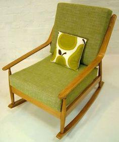 Vintage Danish Rocking Chair Ingmar Relling Mcm Rocker