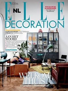 The Secretaire on frontpage ELLE Decoration NL and small article on page 20 with us! #Proud!!!