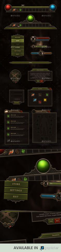 RPG & MMO User Interface - http://graphicriver.net/item/rpg-mmo-user-interface/9179309?WT.ac=portfolio&WT.z_author=KEvil