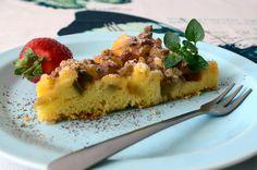 kuchenny bałagan: Rabarbaretka- Szwedzkie ciasto z rabarbarem