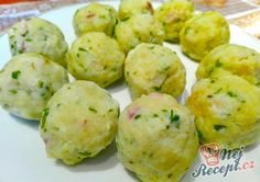 Homemade dumplings with bacon - Homemade Dumplings, Frugal Meals, Meals For Two, Easy Dinner Recipes, Potato Salad, Side Dishes, Bacon, Food And Drink, Nutella