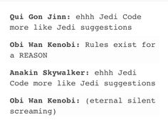 Obi-Wan: The smartest and most relatable character in the entire series The Force Is Strong, Anakin Skywalker, Bad Feeling, Star Wars Humor, Love Stars, Last Jedi, Obi Wan, Reylo, Geek Out