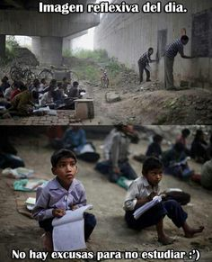 """""""A free school under a bridge in India. These 2 teachers created a free school under a bridge in New Delhi. These children have been receiving free education for the last 3 years using blackboards painted on building walls"""" We Are The World, In This World, I Smile, Make Me Smile, Mundo Cruel, Under Bridge, Free Education, Faith In Humanity Restored, Album Photo"""