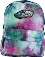 Galaxy Backpack from Vans. Like idea tye-dye Galaxy Backpack, Vans Backpack, Backpack Bags, Jansport Backpack, Cute Backpacks, School Backpacks, Mochila Jansport, Vans Off The Wall, Cute Bags