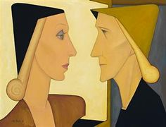 Woman and Dummy, by John Brack, 1954. Oil on canvas.