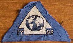 IYHF International Youth Hostel Federation Silk Badge