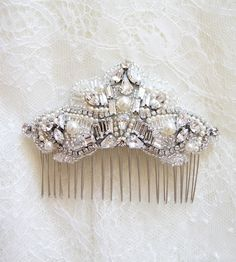 Art deco bridal hair comb by Percy Handmade