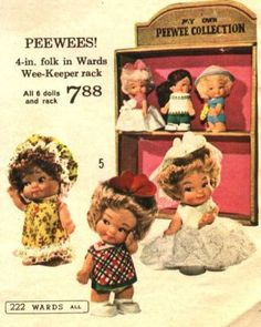 Peewee Dolls Doll Toys, Barbie Dolls, Vintage Dolls, Retro Vintage, Romper Room, 1960s Toys, Psychedelic Rock, Christmas Catalogs, Holly Hobbie