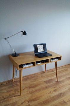 Biurko ''gdzie są szuflady?'' w Pracownia EMBE na DaWanda.com Wood Furniture, Office Desk, Drawers, Etsy, Home Decor, Desktop, Houses, Atelier, Homemade Home Decor