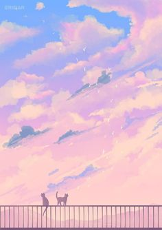 Lazy Summer by Erisiar on DeviantArt Cute Pastel Wallpaper, Anime Scenery Wallpaper, Aesthetic Pastel Wallpaper, Cute Anime Wallpaper, Wallpaper Iphone Cute, Aesthetic Backgrounds, Aesthetic Wallpapers, Sky Aesthetic, Aesthetic Anime