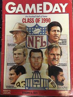 GameDay Pro Football Hall of Fame Class of 1990 Program Magazine NFL