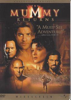 The Mummy Returns DVD, 2001, Widescreen Edition  Brendan Fraser