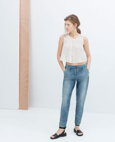 ZARA - TRAFALUC - TROUSERS WITH FRONT ZIP